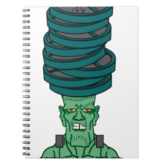 Frankenstein bajo pesos libretas espirales