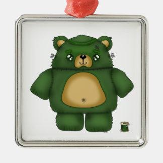 Frankenstein Bear Metal Ornament