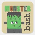 Frankenstein Calcomanía Cuadradas