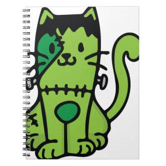 Frankenstein Cat Spiral Notebook