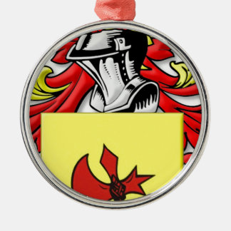 Frankenstein Coat of Arms Round Metal Christmas Ornament