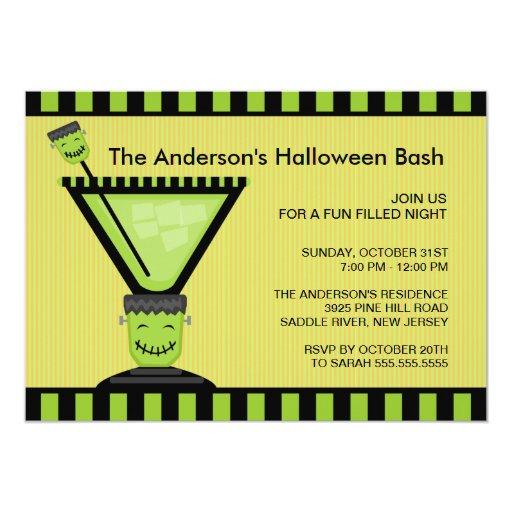 Frankenstein Cocktail Halloween Party Invitation