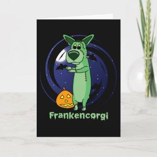 Frankenstein Corgi Card card