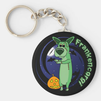 Frankenstein Corgi Keychain