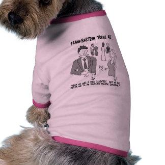 Frankenstein da vuelta a la camiseta del campanero camisetas mascota