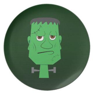 Frankenstein Decorative Plate in Green