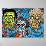 Frankenstein Drácula la momia Poster