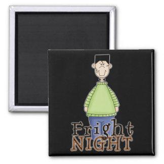 Frankenstein Fright Night Halloween 2 Inch Square Magnet
