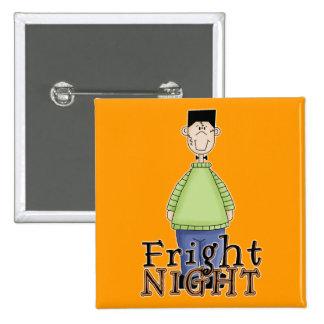 Frankenstein Fright Night Halloween 2 Inch Square Button