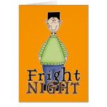 Frankenstein Fright Night Halloween Greeting Card