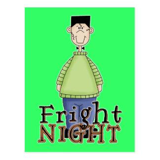 Frankenstein Fright Night Halloween Postcard