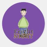 Frankenstein Fright Night Halloween Round Sticker