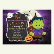 Frankenstein Halloween Birthday Invitation