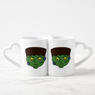 Frankenstein Halloween Cartoon Coffee Mug Set