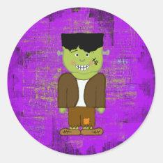 Frankenstein Halloween Envelope Seals at Zazzle