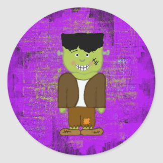 Frankenstein Halloween Envelope Seals Classic Round Sticker