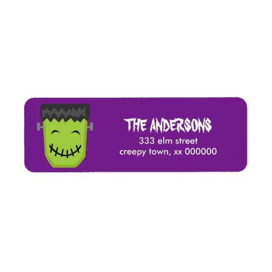 Frankenstein Halloween Labels