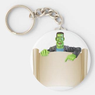 Frankenstein Halloween Sign Scroll Key Chains
