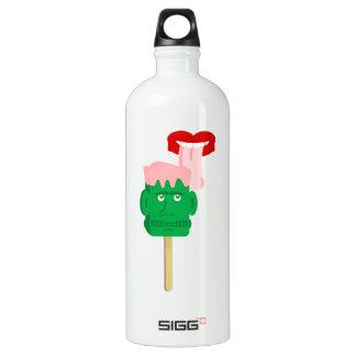 Frankenstein Ice Block Tongue Aluminum Water Bottle