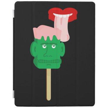 Halloween Themed Frankenstein Ice Block Tongue iPad Smart Cover