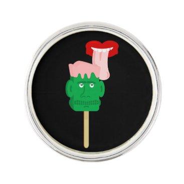 Halloween Themed Frankenstein Ice Block Tongue Pin
