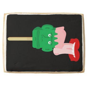 Halloween Themed Frankenstein Ice Block Tongue Shortbread Cookie