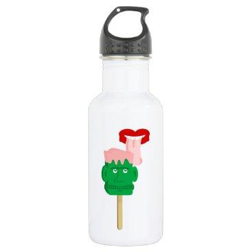 Halloween Themed Frankenstein Ice Block Tongue Stainless Steel Water Bottle