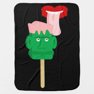 Frankenstein Ice Block Tongue Swaddle Blanket