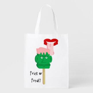 Frankenstein Ice Block Trick or Treat Reusable Grocery Bag