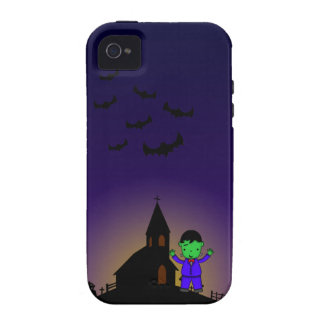 Frankenstein in graveyard with bats phone case vibe iPhone 4 case