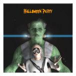 Frankenstein - invitación del fiesta de Halloween
