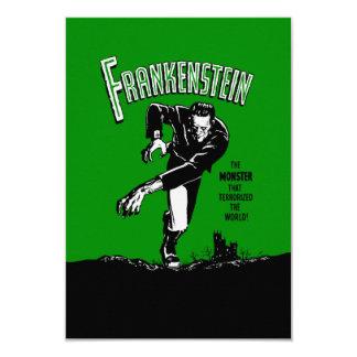 """Frankenstein - invitaciones/RSVP Invitación 3.5"""" X 5"""""""