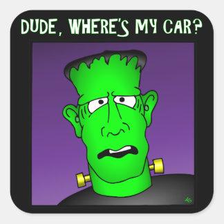 Frankenstein Keychains & Flair Square Sticker
