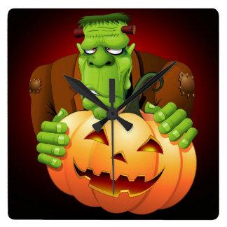 Frankenstein Monster Cartoon Wall Clock