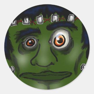 frankenstein monster classic round sticker
