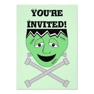 Frankenstein Monster Face And Crossbolts Card