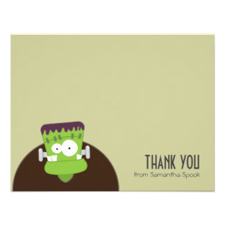 Frankenstein Monster   Flat Thank You Note Cards Personalized Announcements