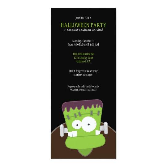 Frankenstein Monster Halloween Party Invitations