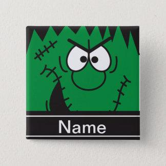 Frankenstein Monster Head Halloween Personalize Button