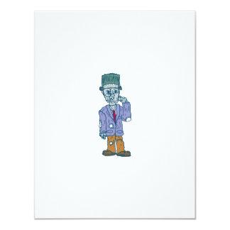 Frankenstein Monster Standing Cartoon 11 Cm X 14 Cm Invitation Card