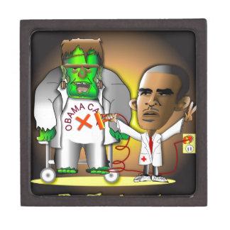 Frankenstein Obama Care Premium Keepsake Boxes