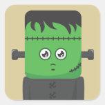 Frankenstein Pegatinas Cuadradases Personalizadas