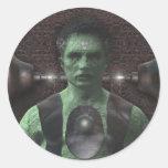 Frankenstein - pegatinas de Halloween Etiquetas Redondas