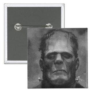 Frankenstein Pin/Button 2 Inch Square Button