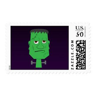 Frankenstein Postage Stamp in Purple