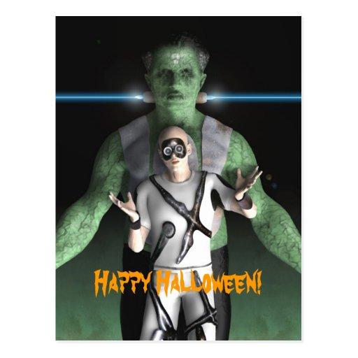 Frankenstein - postal de Halloween