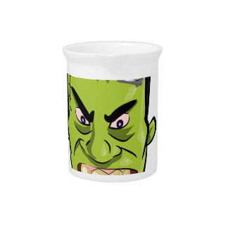 Frankenstein pumpkin spice drink pitcher
