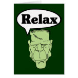 Frankenstein relaja la tarjeta de nota