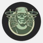 Frankenstein retro etiqueta redonda