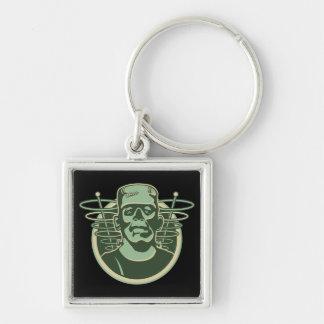 Frankenstein retro llavero cuadrado plateado